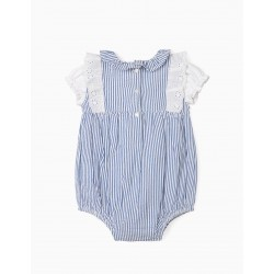 B&S' BABY BODYSUIT AND BODYSUIT, BLUE / WHITE