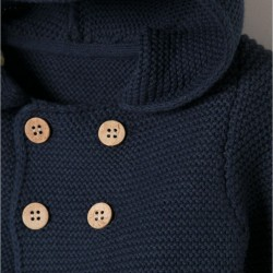 JACKET WITH HOOD AND POMPOM
