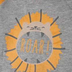 NEWBORN TRACKSUIT 'ROAR!', GRAY