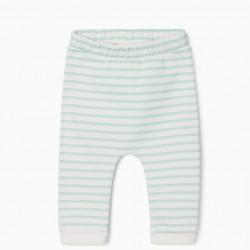 2 'CUTE BUNNY' NEWBORN PANTS, GREY/WHITE/BLUE