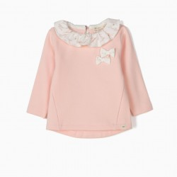 ANIMALS' NEWBORN SWEATSHIRT, PINK