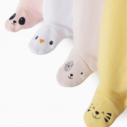 4 FEET PANTS FOR BABY GIRL 'ANIMALS', MULTICOLOR