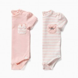 2 NEWBORN BODIES 'ANIMALS', PINK
