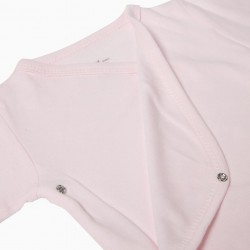 PACK 2 PINK AND WHITE LONG SLEEVE BODIES