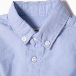 BLUE OXFORD BODY-SHIRT