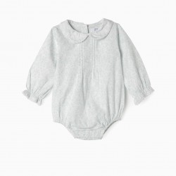 BODY-BLOUSE FOR NEWBORN, WHITE AND GREEN