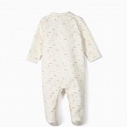 INFANT ROMPER 'ANIMALS', WHITE