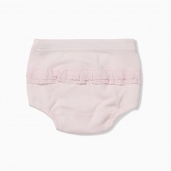 PACK 2 PINK AND WHITE DIAPER COVER PANTIES