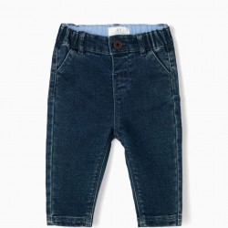 'COMFORT DENIM' NEWBORN JEANS, BLUE