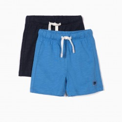 2 BABY BOY'S SPORTS SHORT, BLUE