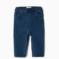 'COMFORT DENIM' NEWBORN JEGGINGS, DARK BLUE