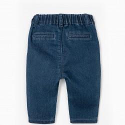 'COMFORT DENIM' NEWBORN PANTS, BLUE