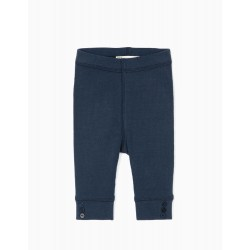 NEWBORN RIBBED LEGGINGS, DARK BLUE
