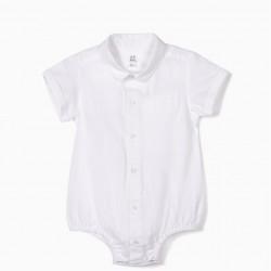 NEWBORN BABY BODYSUIT, WHITE