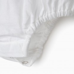 NEWBORN BODY-BLOUSE, WHITE