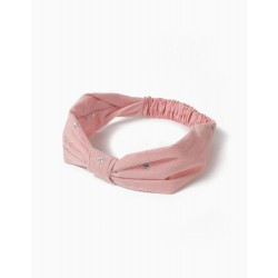 TULLE HAIRBAND FOR GIRLS, 'STARS', PINK