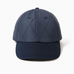 BLUE QUILTED CAP