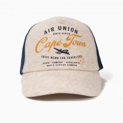 AIR UNION BOY CAP, GRAY AND DENIM