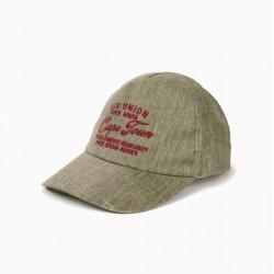 CAPE CAPE BOY LINEN, GREEN