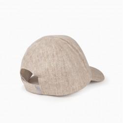 CAPE TOWN BOY CAP LINEN, BEiGE