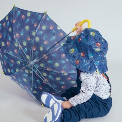 'MONSTERS' BOY'S UMBRELLA, BLUE/YELLOW
