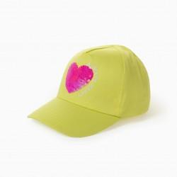 'ALWAYS HAPPY' GIRL CAP, YELLOW