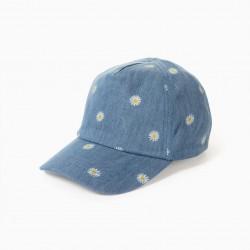'DAISY' GIRL DENIM CAP, BLUE