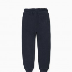 'BE BOLD' BOY'S TRACK PANTS, DARK BLUE