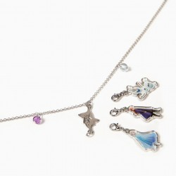 'FROZEN II' GIRL NECKLACE WITH PENDANTS, SILVER