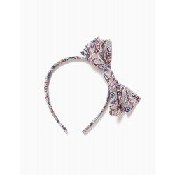 GIRL'S HEADBAND WITH BOW, MULTICOLOR