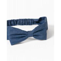 DENIM HAIRBAND FOR GIRLS, BLUE