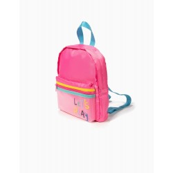 'LET'S PLAY' GIRL BACKPACK, PINK