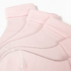 PACK 5 PAIRS OF SOCKS WITH PINK FOLD