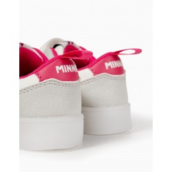 GIRLS 'MINNIE' SHOES WITH LIGHTS, WHITE