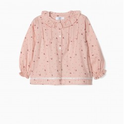 BLOUSE FOR BABY GIRL 'FLOWERS', PINK