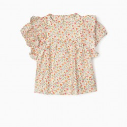 FLORAL BLOUSE FOR BABY GIRL, MULTICOLOR