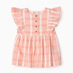 EMBOSSED BLOUSE FOR BABY GIRL, PINK