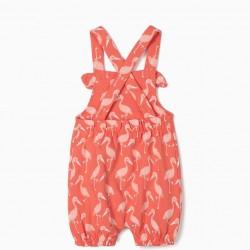 'FLAMINGOS' BABY GIRL JUMPSUIT, PINK