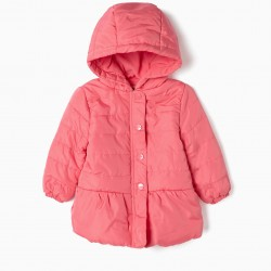 PADDED JACKET FOR BABY GIRL, PINK