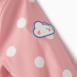 PARKA WITH HOOD FOR BABY GIRL 'BALLS', PINK