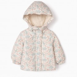QUILTED JACKET FOR BABY GIRL 'FLORES', GRAY