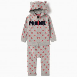 'MINNIE' BABY GIRL TRACKSUIT, GRAY