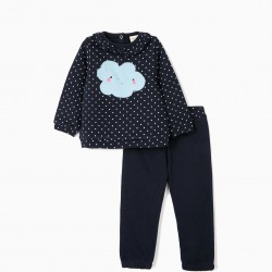 BABY CLOUD GIRL TRACKSUIT, DARK BLUE