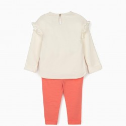 'QUEENS OF THE NILE' BABY GIRL TRACKSUIT, WHITE / PINK