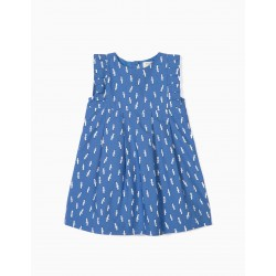 BABY GIRL DRESS 'B&S' SEAGULLS, BLUE