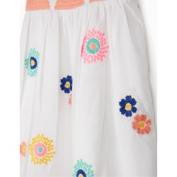BABY GIRL EMBROIDERED DRESS, WHITE