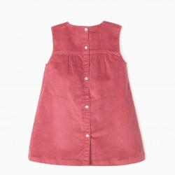 BOMBAZINE DRESS FOR BABY GIRL, PINK
