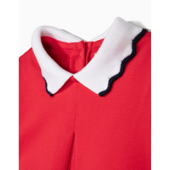 PIQUÉ DRESS FOR BABY GIRL, RED
