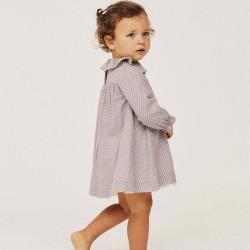 BABY GIRL DRESS 'LEAVES', PURPLE
