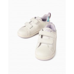 BABY SHOES FOR GIRLS 'ZY 1996', WHITE / LILAC